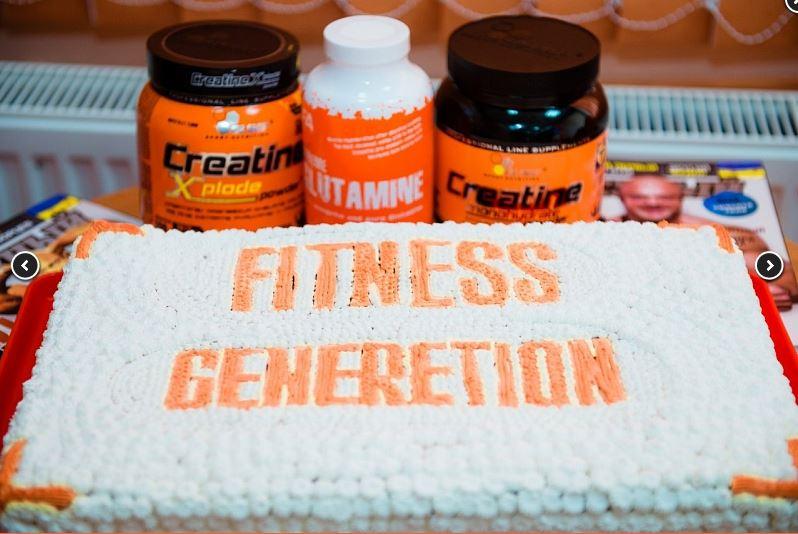 логотип компании Спортивное питание FITNESS-GENERATION — магазин